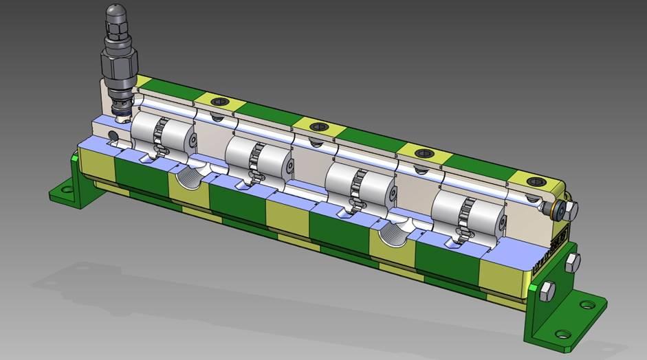 Sezione di un divisore di flusso Vivoil