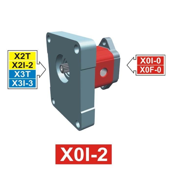Elemento di Pompa Multipla xi004 del Gruppo 0 di Vivolo Vivoil Oleodinamica