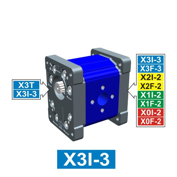 Elemento di Pompa Multipla xi301 del Gruppo 3 di Vivolo Vivoil Oleodinamica