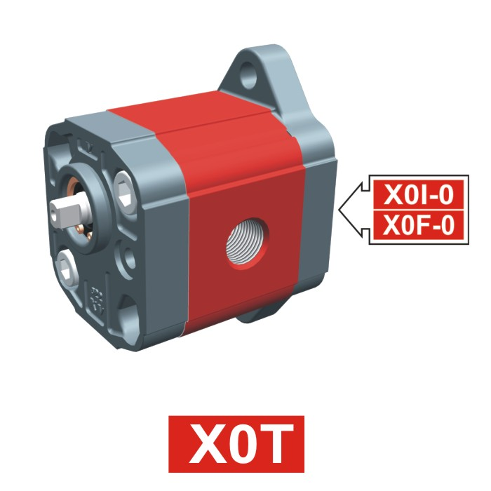 Elemento di Pompa Multipla xt017 del Gruppo 0 di Vivolo Vivoil Oleodinamica