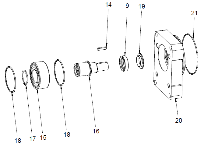 The bearing support