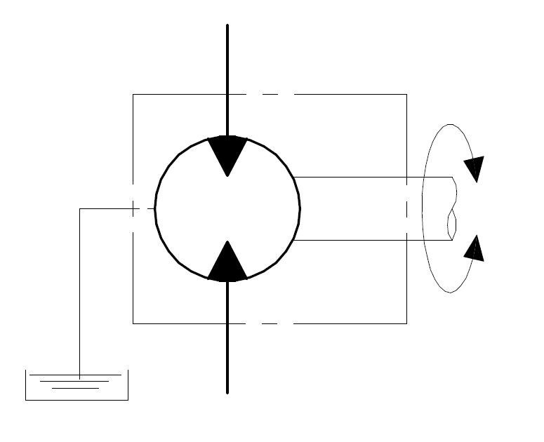 External drainage for unidirectional motors